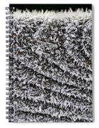 Ice Crystals On Wood Railing Spiral Notebook
