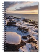 Ice Cubes And Sunrise Spiral Notebook