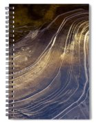Ice Curve Spiral Notebook