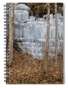 Ice Falls Spiral Notebook