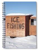 Ice Fishing Hut Spiral Notebook