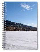 Ice Fishing On Wood Lake Spiral Notebook