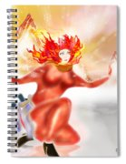 Ice Flame Spiral Notebook