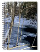 Ice On The Creek Spiral Notebook