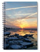 Ice On The Delaware River Spiral Notebook