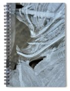 Ice Curves Spiral Notebook