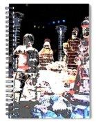 Ice Sculptured Nativity Scene Posterized Spiral Notebook
