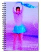 Ice Skater Abstract Spiral Notebook