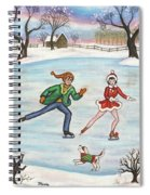 Ice Skaters Spiral Notebook