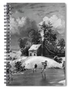 Ice Skating, 1880 Spiral Notebook
