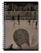 Ice Skating At Rockefeller Center In The Early Days Spiral Notebook