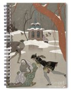 Ice Skating On The Frozen Lake Spiral Notebook