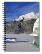 Iceberg And Mount Mcginnis Spiral Notebook
