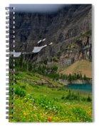 Iceberg Park Tarn Glacier National Park Montana Spiral Notebook