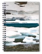 Icebergs In August Glacier International Peace Park Spiral Notebook