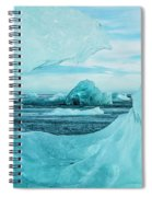 Icebergs On The Southern Beach Spiral Notebook