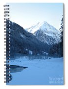 Iceblue Snow Spiral Notebook