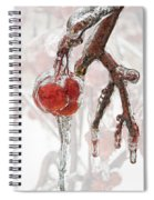 Iced Red Cherries Spiral Notebook