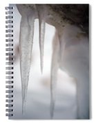 Icicles 2 Spiral Notebook