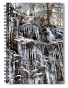 Icicles On Forbidden Drive Spiral Notebook