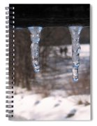 Icicles On The Bridge Spiral Notebook