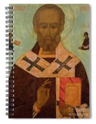 Icon Of St. Nicholas Spiral Notebook