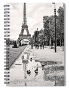 Icon Reflected Bw Spiral Notebook