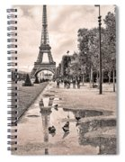 Icon Reflected Sepia Spiral Notebook