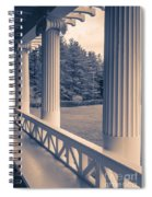Iconic Columns On An Estate Spiral Notebook