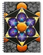 Icosahedron In A Metatron's Cube Spiral Notebook