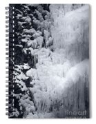 Icy Cliff - Black And White Spiral Notebook
