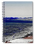 Icy Cold Seascape Digital Painting Spiral Notebook