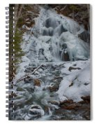 Icy Flow Of Water Spiral Notebook