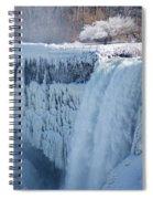 Icy Niagara Falls Spiral Notebook