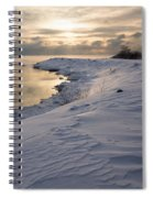 Icy Patterns On The Snow - A Lake Shore Morning Spiral Notebook
