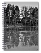 Icy Pond Reflects Spiral Notebook