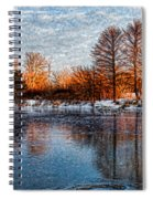 Icy Reflections At Sunrise - Lake Ontario Impressions Spiral Notebook