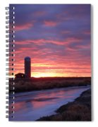 Icy River Sunset Spiral Notebook
