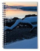 Icy Snowy Winter Sunrise On The Lake Spiral Notebook