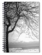 Icy Waters Of Lake Michigan Spiral Notebook