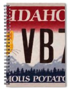 Idaho License Plate Spiral Notebook
