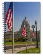 Idaho State Capitol In Boise Spiral Notebook