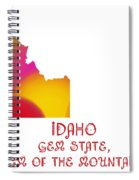 Idaho State Map Collection 2 Spiral Notebook