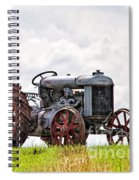 Idle Fordson Tractor On The Hill Spiral Notebook