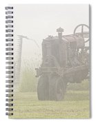 Idle Tractor In Fog Spiral Notebook