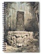 Idol And Altar At Copan Spiral Notebook