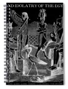 Idols  Of Egypt Spiral Notebook