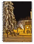 Idylic Winter Cityscape Evening In Snow Spiral Notebook