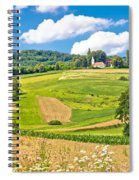 Idyllic Agricultural Landscape Panoramic View Spiral Notebook
