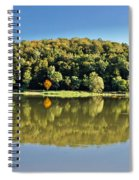 Idyllic Autumn Reflections On Lake Surface Spiral Notebook